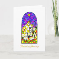Christmas Greetings Shepherd Holiday Card