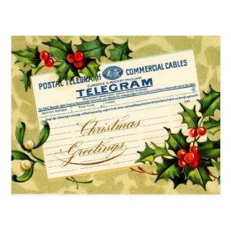 Christmas Greetings Telegram Mail Postcard