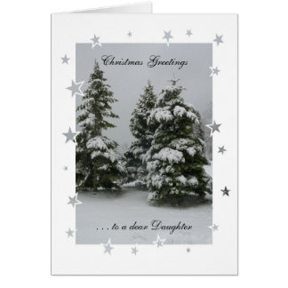 Christmas Greetings to a dear Daughter Card