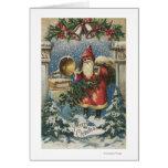 Christmas GreetingSanta and Record Player Card