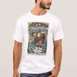 Christmas GreetingSanta and Record Player T-Shirt