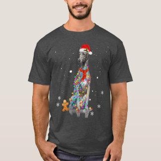 Christmas Greyhound Gift  Greyhound Funny Santa T-Shirt