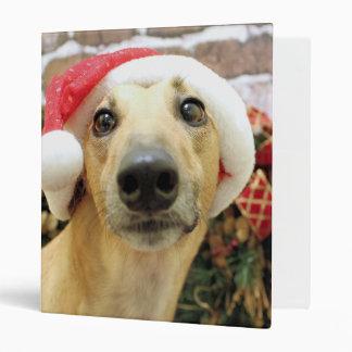 Christmas - Greyhound - Pena Vinyl Binder