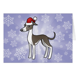 Christmas Greyhound / Whippet / Italian Greyhound Greeting Cards