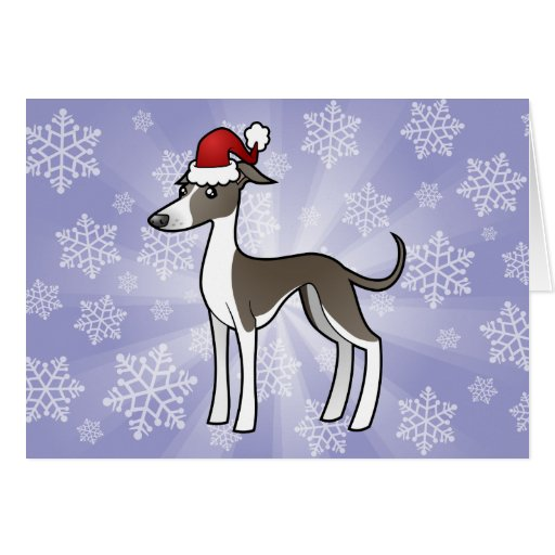 greyhound gift card christmas greyhound whippet italian greyhound card 402