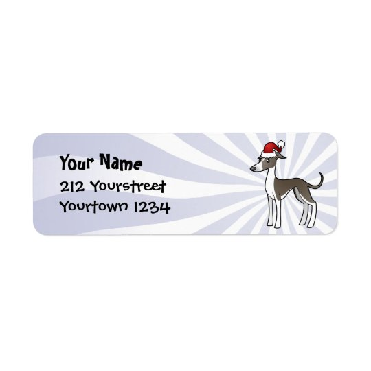 Christmas Greyhound / Whippet / Italian Greyhound Label
