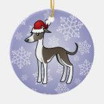 Christmas Greyhound / Whippet / Italian Greyhound Christmas Ornaments