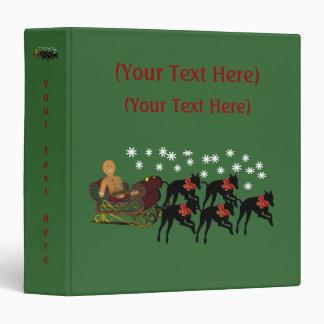 Christmas Greyhounds Sleigh Holiday Custom Binder