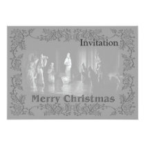 Christmas Group b/w Card