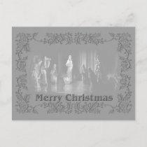 Christmas Group b/w Holiday Postcard