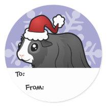 Christmas Guinea Pig Gift Tags (long hair)