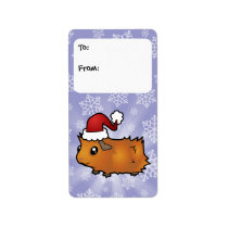 Christmas Guinea Pig Gift Tags (scruffy)