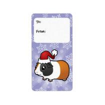 Christmas Guinea Pig Gift Tags (smooth hair)