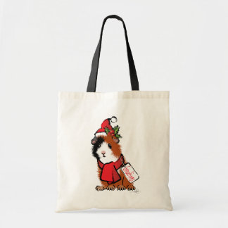 Christmas Guinea Pig Greeting Canvas Bags