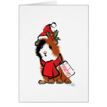 Christmas Guinea Pig Greeting Card