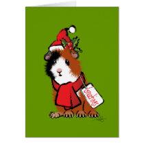Christmas Guinea Pig Greeting Card
