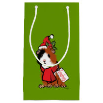 Christmas Guinea Pig Greeting Small Gift Bag