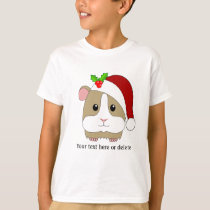 Christmas Guinea Pig In A Santa Hat Personalized T-Shirt
