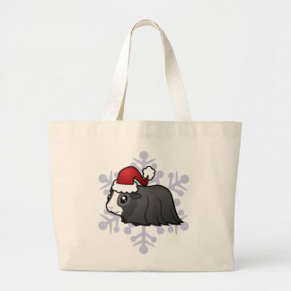 Christmas Guinea Pig (long hair) Jumbo Tote Bag