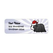 Christmas Guinea Pig (long hair) Label