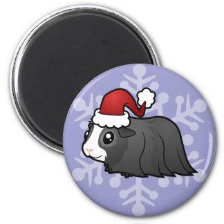 Christmas Guinea Pig (long hair) Magnet