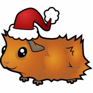 Christmas Guinea Pig Ornament (scruffy)
