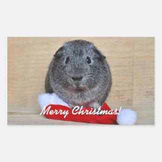 Christmas Guinea Pig Rectangular Sticker