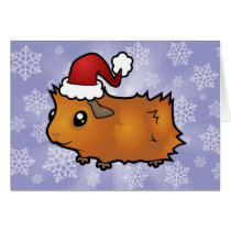 Christmas Guinea Pig (scruffy) Card