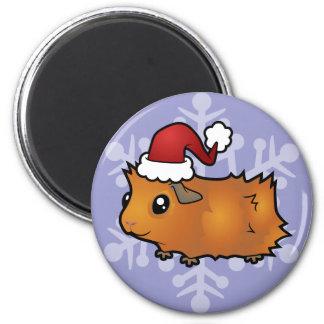 Christmas Guinea Pig (scruffy) Magnet