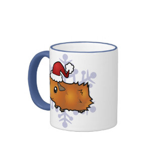 Christmas Guinea Pig scruffy Mugs