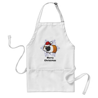 Christmas Guinea Pig (smooth hair) Adult Apron
