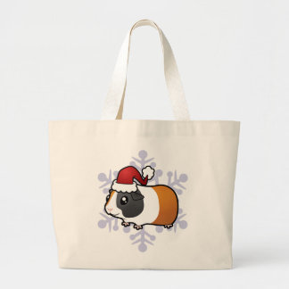 Christmas Guinea Pig (smooth hair) Jumbo Tote Bag