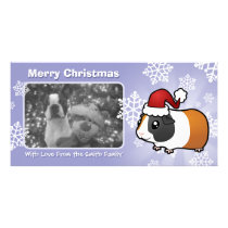 Christmas Guinea Pig (smooth hair) Card