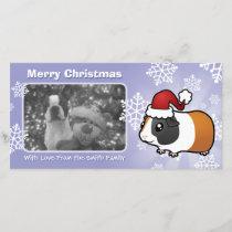 Christmas Guinea Pig (smooth hair) Holiday Card