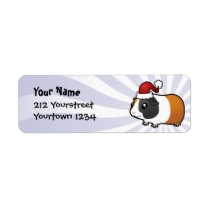 Christmas Guinea Pig (smooth hair) Label