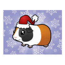 Christmas Guinea Pig (smooth hair) Postcard