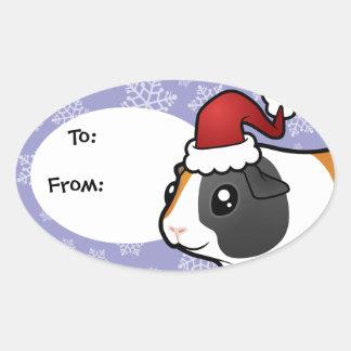 Christmas Guinea Pig (smooth hair) Sticker