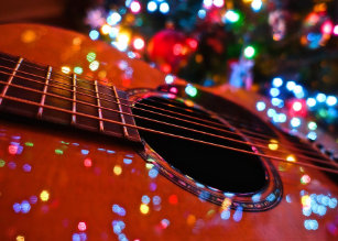 Image result for christmas guitar