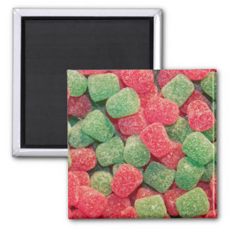 Christmas Gumdrops 2 Inch Square Magnet