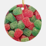 Christmas Gumdrops Double-Sided Ceramic Round Christmas Ornament