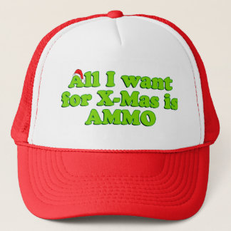 Christmas Gun Ammo Hat
