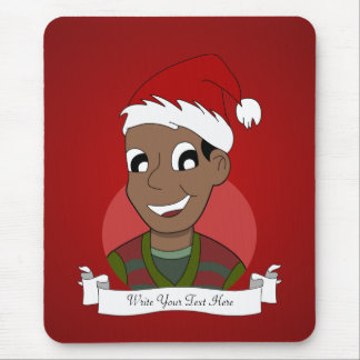 Christmas guy cartoon mouse pad