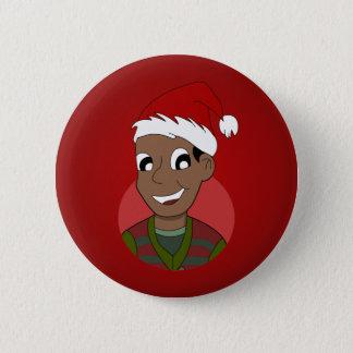 Christmas guy cartoon pinback button