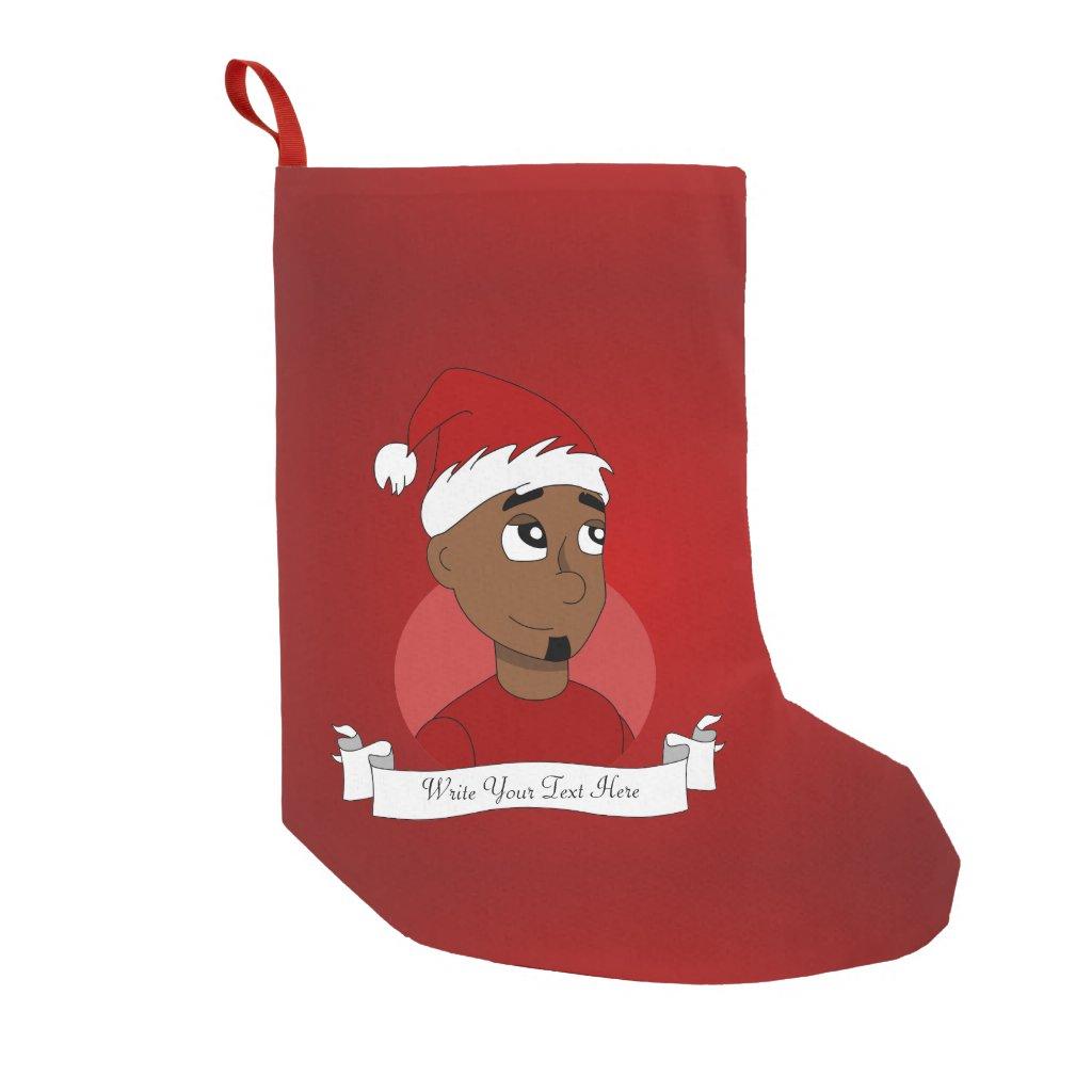 Christmas guy cartoon small christmas stocking