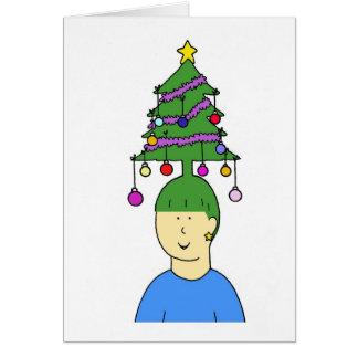 Christmas hair. card