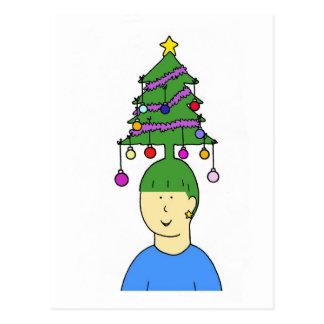 Christmas hair. postcard