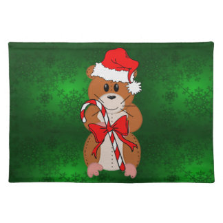 Christmas Hamster Cloth Placemat