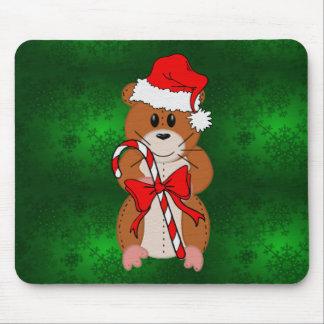 Christmas Hamster Mouse Pad