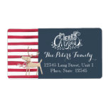 "Christmas Hand lettering Stripes | Address Labels<br><div class=""desc"">Cartita design ©2015  All Rights Reserved