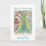 "Christmas / Hanukkah card (Christmas up)<br><div class=""desc"">Wish friends and family a happy Hanukristmas and Christmukkah with this hand-drawn card celebrating both holidays.</div>"